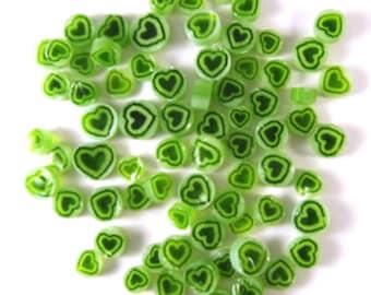 Green Heart Millefiori - 96 COE - 2201-96