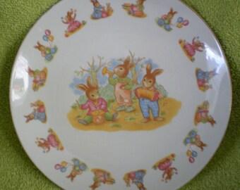 Child's Rabbit Plate