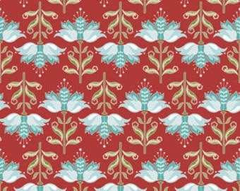 Apple of My Eye by The Quilted Fish for Riley Blake Fabrics - Half yard Floral in Red