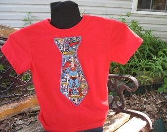 Red Superman Necktie t shirt