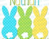 Easter IRON ON transfer - Bunny Peeps - Boy or Girl