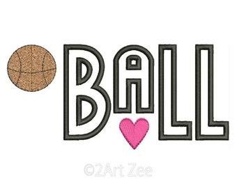 Basketball Machine Embroidery