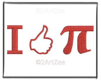 I Like Pi  Machine Embroidery Design for Children and Math Lovers and teachers
