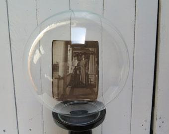 Vintage Round Glass  Specimen Apothecary Cloche Display  screw bottom -  Glass globe Aquarium Vase