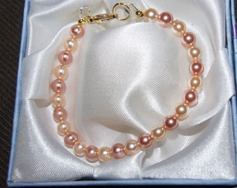 Mother of Pearl Bracelet - Rose and Champagne