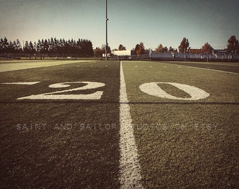 20 Yard Line Football Field Photo Print, Boys Room, Wall Decor, Wall Art,  Man Cave,Boys Nursery Ideas, Gift Ideas,