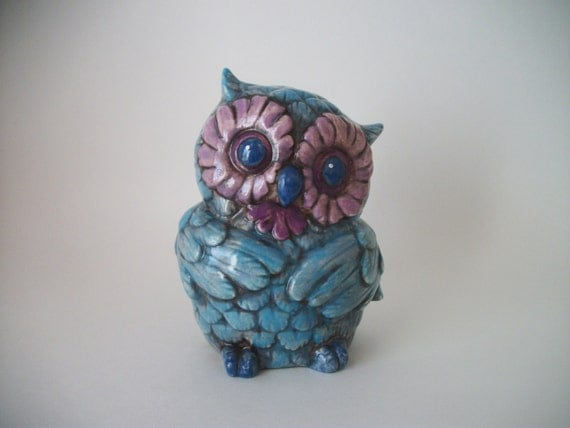 Owl Decor In Blue And Purple For Kids Room Home By