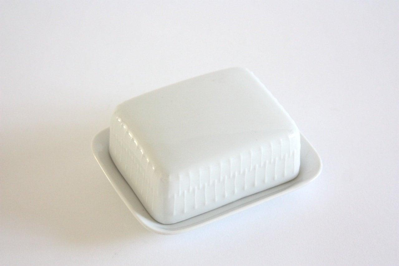 Vintage White Porcelain Soap Dish Trinket Box By