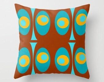 Modern Pillow, Modern Throw Pillow, Mid Century Modern Pillow, Retro Pillow, Geometric Pillow, Modern Cushion, Mid Century Cushion