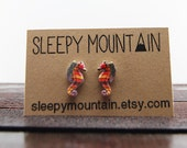 Crayon Ponyfish Earrings - Wes Anderson The Life Aquatic Stud Earrings