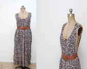 Womens Floral 90s Jumper Over Dress Large XL 1X 2X