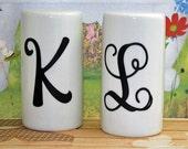 Whiteware Personalized Porcelain Salt and Pepper Shaker Set