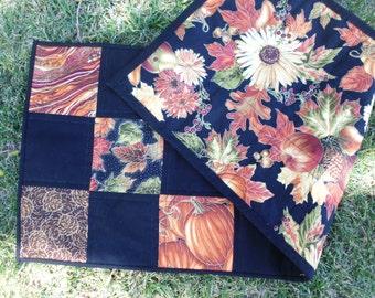 Fall elegant squares table runner