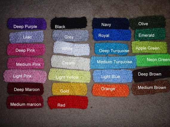 """1.5"""" Crochet Headband in numerous colors (pick one or more)"""