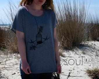 Birdcage Dolman T-Shirt