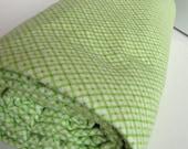 Mint Green Lattice Print Cotton Flannel 2 Yards.