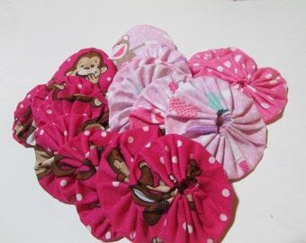 Pink Monkey Yo Yos for crafting, jewelry making, card making