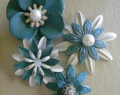 Wedding Flowers Metal Flower Brooches Bouquet Flowers