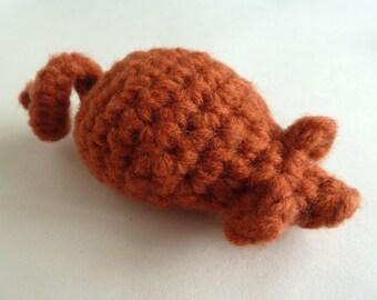Orange Crocheted Catnip Mouse