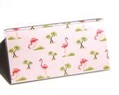 CHECKBOOK COVER - Flamingos