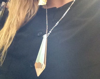 Glass Prism Necklace  //  Chandelier Necklace //  Icicle necklace
