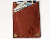 Thin Rivet Wallet - Brown Leather