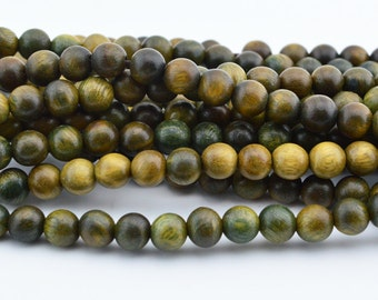 108  6MM Green SANDALWOOD  Meditation  Buddhist  MALA  Bead