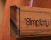 Simplicity is the Ultimate Sophistication Quote by Da Vinci Engraved in Wood