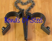 Long Chained Handcuffs Restraint Bonds of Steel BDSM Mature