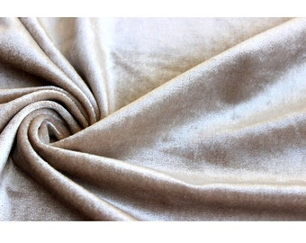 Pearl Beige Cotton Velvet Upholstery Weight Fabric Commercial Curtain Fabric Fashion Velvet Upholstery Fabric Decorative Window Treatment
