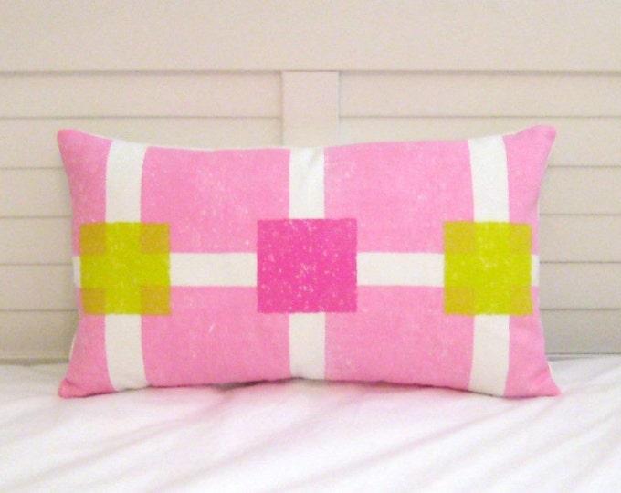 FLASH SALE -  Designers Guild Boutique Pink 12x20 Lumbar Pillow Covers