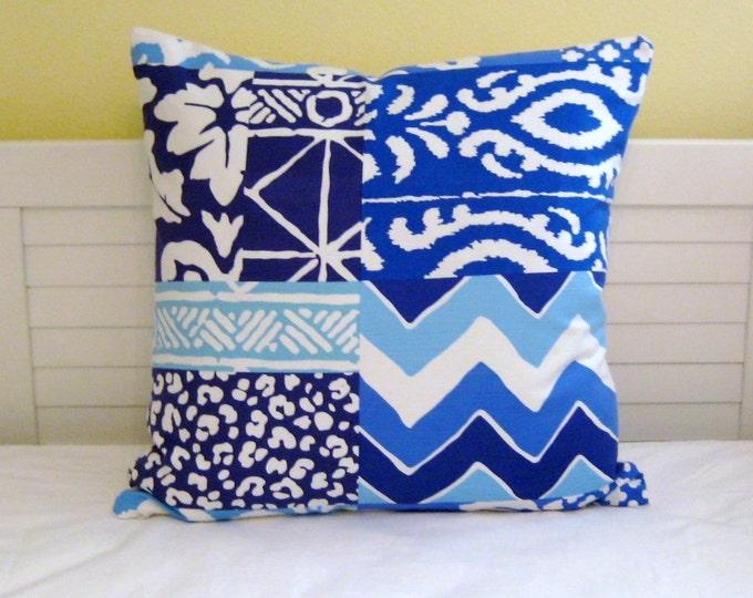 Stroheim Dana Gibson Parish Patch in Navy Designer Pillow Cover