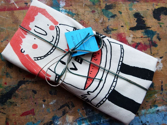 Screen printed tote bag, i love vegetables shopper. Natural cotton grocery bag, vegetarian gift. Orange & black shopping accessory