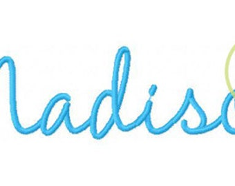 """Madison Machine Embroidery Font  1."""", 1.5"""", 2"""", & 2.5"""" (upper and lower A-Z )INSTANT DOWNLOAD now available"""