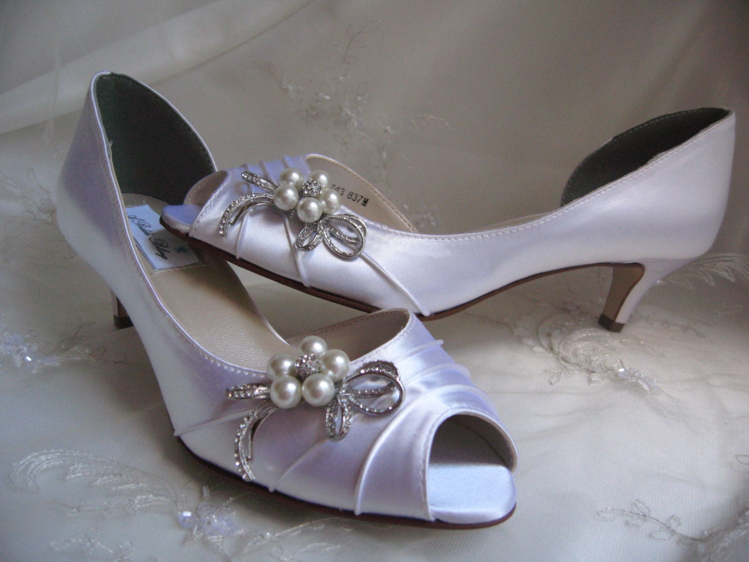 Wedding Heels With Rhinestones: Wedding Shoes Bridal Shoes With Pearl And Crystal Rhinestone