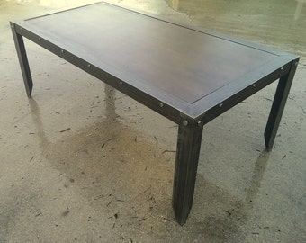 Custom Industrial Coffee Table #021  •  Industrial Style Furniture by Industrial Evolution Furniture Co.