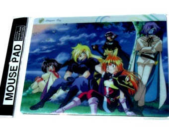 Anime Vintage 90's 1990's Nineties Cartoon TV Slayer's Try RARE Mousepad Mouse pad Comic Animation Japan New in Package