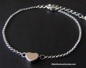 Tiny Heart Bracelet, Chain Bracelet, Charm Bracelet, Friendship Bracelet, Jewelry, Gift