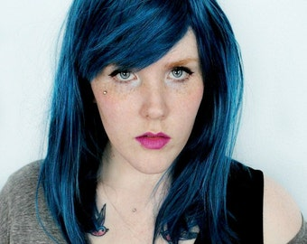 SALE Blue wig | Scene wig, cosplay wig, emo wig | Blue hair wig, mermaid wig, straight wig | Pacific Mist