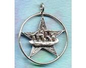 Sterling Silver Druid Stonehenge Pentacle Pentagram Jewelry Pendant  Pent147