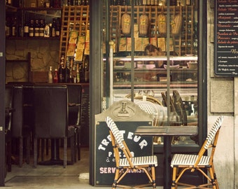 Landscape, Cityscape, Art, Photography, Paris Photography, Paris Bistro Chairs, Home Decor, Etsy Wall Art, Print