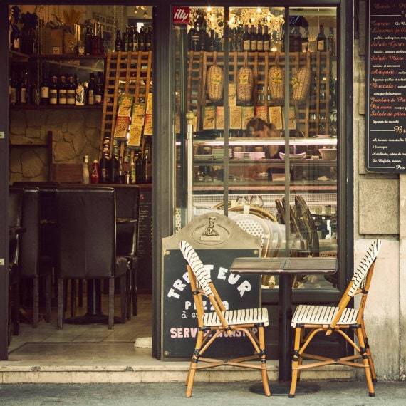 Paris Print Sale, 8x8 Print, Summer Sale Price, Travel Photo, Paris Image, Cafe Chairs, Home Decor, Kitchen Art