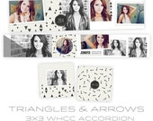 INSTANT DOWNLOAD  Triangles and Arrows 3x3 WHCC Accordion