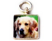 "3/4"" Sterling Square Photo Charm"