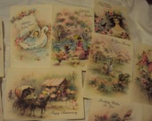 10 Boxed Vintage Unused Greeting Cards with Glitter Designs!!!! RESERVED For VICTORIA