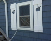 Shutter Exterior Interior ONE Cedar Wood Beach Cottage Lake Country House Shutter - 26 Inches by CastawaysHall