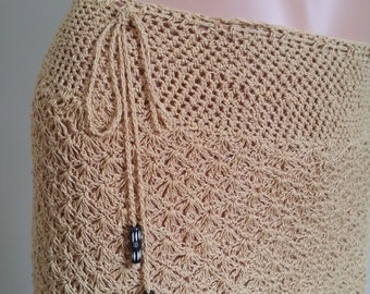 Crochet cotton skirt