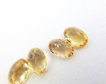 IMPERIAL / PRECIOUS ToPAZ. Natural. Native Cut. Oval Shape. 4 pc. 2.21 cts. 4x6 mm  (Bt357)