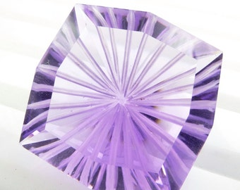 AmAzInG DeaL  AMETHYST. Natural. Xxl LArge. Laser Cut. Space Time Vortex. VerY CLEAn. 1 piece. 25.0 cts. 20 mm  (Am1050)