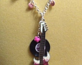 Rock and Roll Guitar Necklace